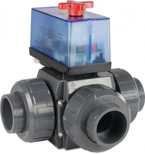 3-way actuated L-bore ball valve, type S5