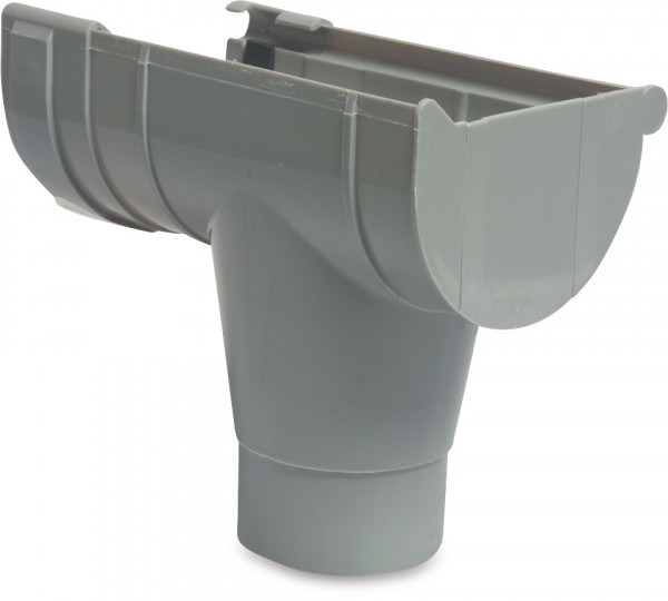 Mast gutter drain end piece