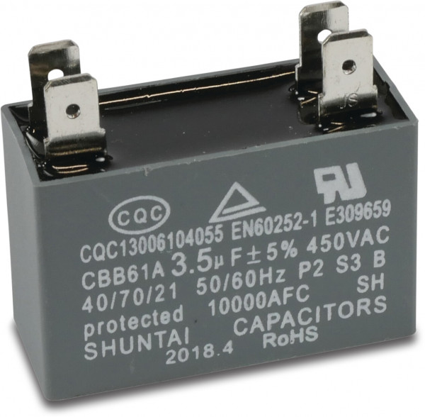 Capacitor 3,5µF type square plugged