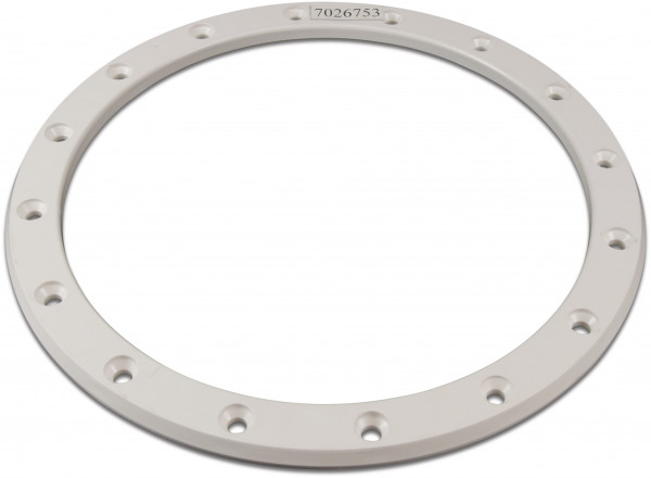 Wide fastening flange (40) for type STP series